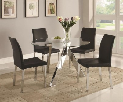 Striking Round Glass Table Designs Ideas For Dining Room 06