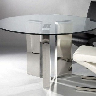 Striking Round Glass Table Designs Ideas For Dining Room 10
