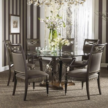Striking Round Glass Table Designs Ideas For Dining Room 13