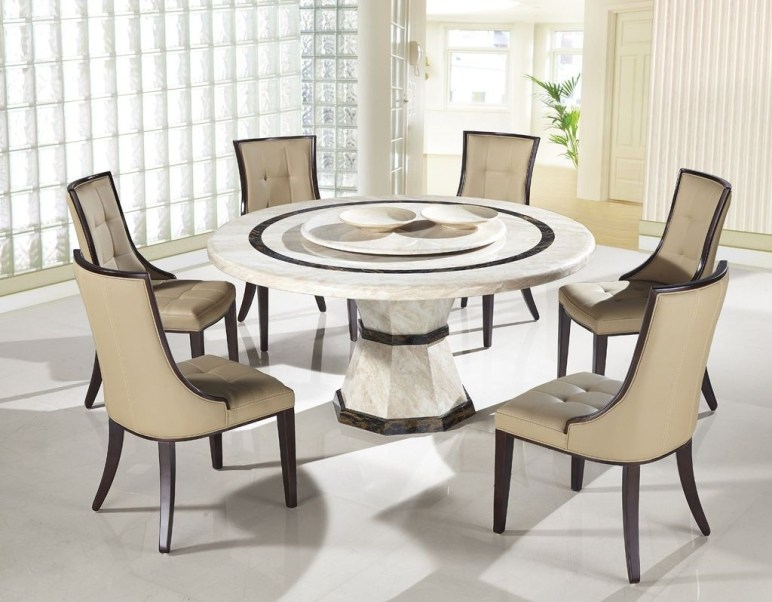 Striking Round Glass Table Designs Ideas For Dining Room 14