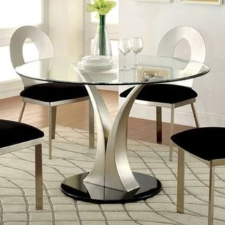Striking Round Glass Table Designs Ideas For Dining Room 20