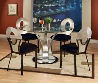 Striking Round Glass Table Designs Ideas For Dining Room 21