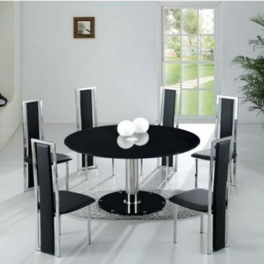 Striking Round Glass Table Designs Ideas For Dining Room 35