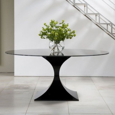 Striking Round Glass Table Designs Ideas For Dining Room 37
