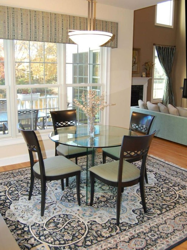Striking Round Glass Table Designs Ideas For Dining Room 38