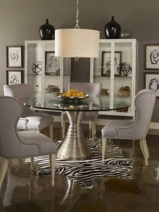 Striking Round Glass Table Designs Ideas For Dining Room 40