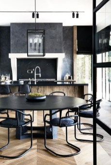 Catchy Living Room Designs Ideas With Bold Black Furniture 06