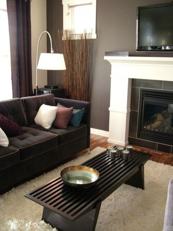 Catchy Living Room Designs Ideas With Bold Black Furniture 20