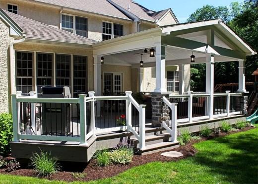 Comfy Porch Design Ideas For Backyard 18
