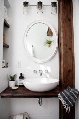 Cozy Small Bathroom Ideas With Wooden Decor 06