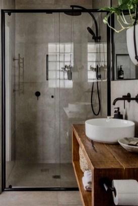 Cozy Small Bathroom Ideas With Wooden Decor 18