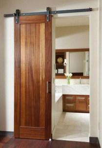 Cozy Small Bathroom Ideas With Wooden Decor 29