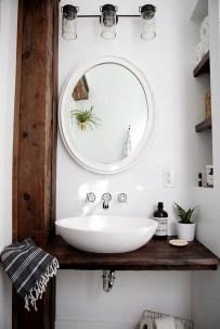 Cozy Small Bathroom Ideas With Wooden Decor 30