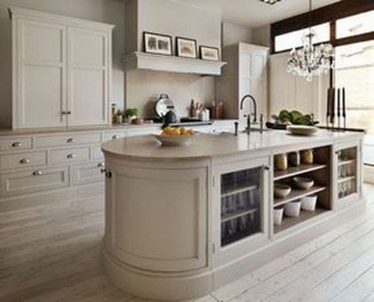 Creative Painted Kitchen Cabinets Design Ideas 17