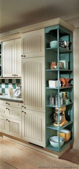 Creative Painted Kitchen Cabinets Design Ideas 38