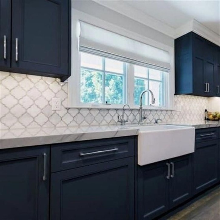 Creative Painted Kitchen Cabinets Design Ideas 41
