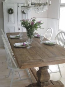 Cute Farmhouse Table Design Ideas Which Is Not Outdated 01