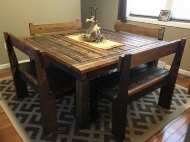 Cute Farmhouse Table Design Ideas Which Is Not Outdated 07