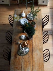 Cute Farmhouse Table Design Ideas Which Is Not Outdated 28