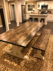 Cute Farmhouse Table Design Ideas Which Is Not Outdated 30