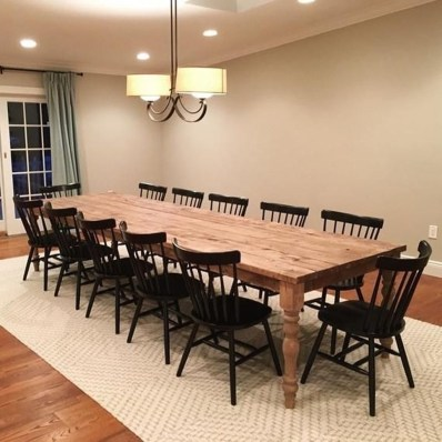 Cute Farmhouse Table Design Ideas Which Is Not Outdated 34