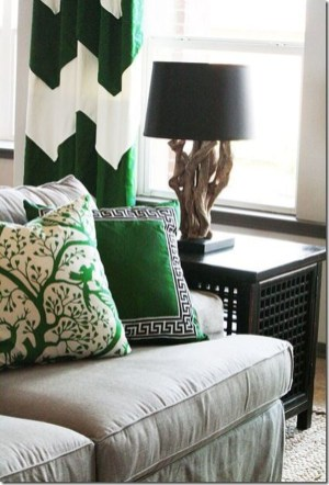 Enchanting Living Rooms Ideas With Combinations Of Grey Green 33