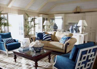 Fancy Living Room Decor Ideas With Ginger Jar Lamps 45