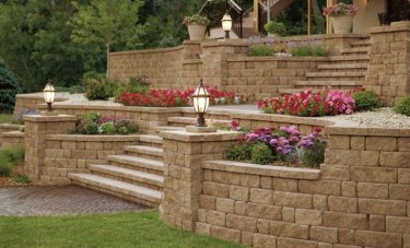 Gorgeous Front Yard Retaining Wall Ideas For Front House 14