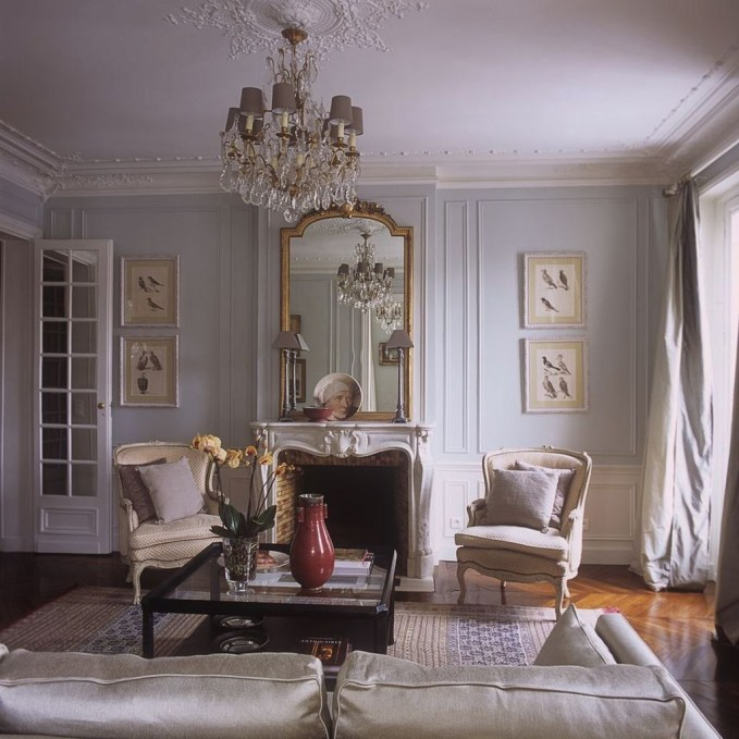 Impressive French Style Living Room Designs Ideas 06