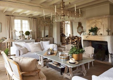 Impressive French Style Living Room Designs Ideas 32