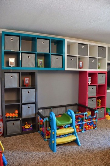 Cozy Bookcase Ideas For Kids Room 03