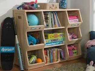 Cozy Bookcase Ideas For Kids Room 16