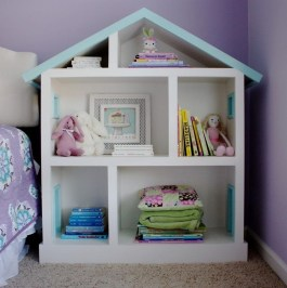 Cozy Bookcase Ideas For Kids Room 22