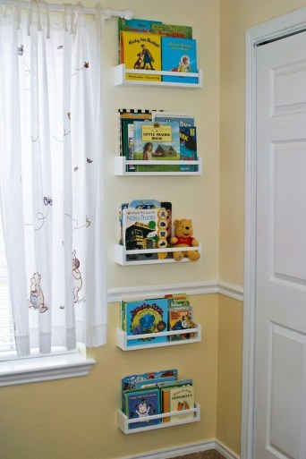 Cozy Bookcase Ideas For Kids Room 44