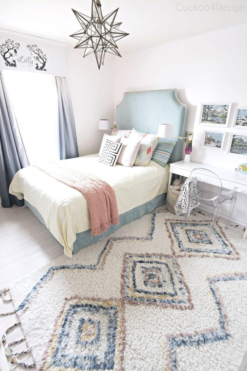 Cute Love Blue Ideas For Teenage Bedroom 02