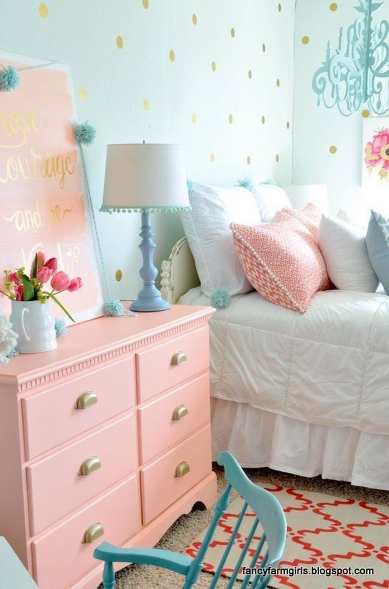Cute Love Blue Ideas For Teenage Bedroom 11