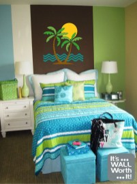 Cute Love Blue Ideas For Teenage Bedroom 19