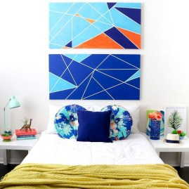 Cute Love Blue Ideas For Teenage Bedroom 21