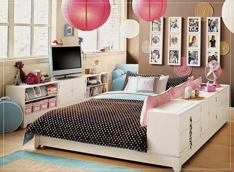 Cute Love Blue Ideas For Teenage Bedroom 30