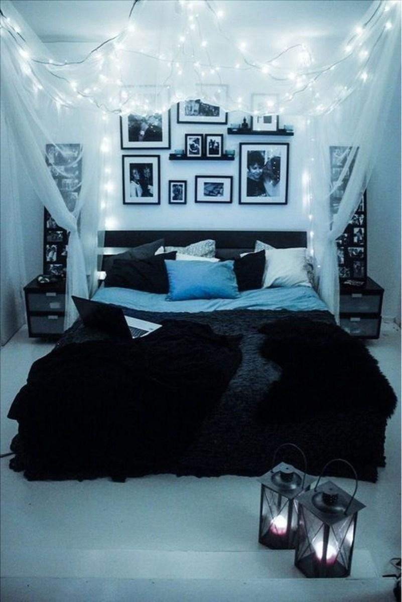Cute Love Blue Ideas For Teenage Bedroom 41