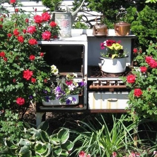 Unique Old Furniture Repurposing Ideas For Yard And Garden 16