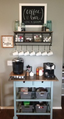 Affordable Diy Mini Coffee Bar Design Ideas For Home Right Now 27