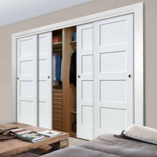 Amazing Sliding Door Wardrobe Design Ideas 50