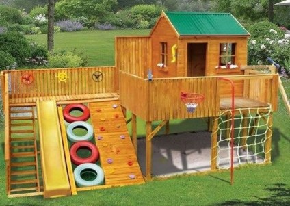 Captivating Treehouse Ideas For Children Playground 08