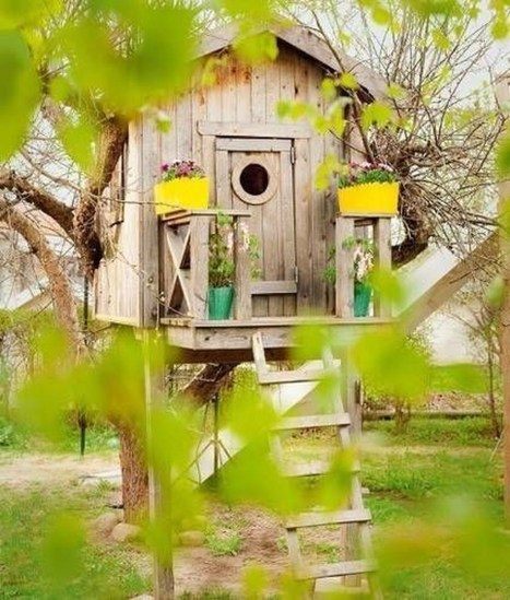 Captivating Treehouse Ideas For Children Playground 15