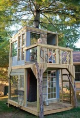 Captivating Treehouse Ideas For Children Playground 38