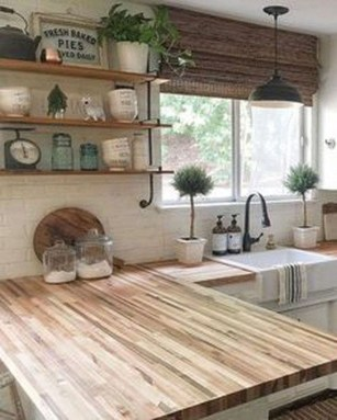 Enchanting Farmhouse Kitchen Decor Ideas To Try Nowaday 08