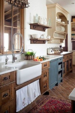 Enchanting Farmhouse Kitchen Decor Ideas To Try Nowaday 17
