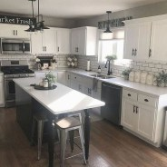 Enchanting Farmhouse Kitchen Decor Ideas To Try Nowaday 49