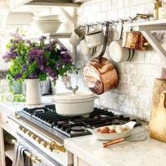 Enchanting Farmhouse Kitchen Decor Ideas To Try Nowaday 50